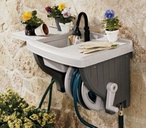 Outdoor sink...no plumbing required. Just attach to your outdoor ...