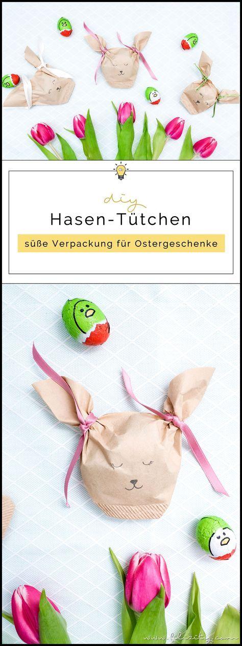 Ostergeschenke verpacken: DIY Hasentüten aus Kaffeefiltern