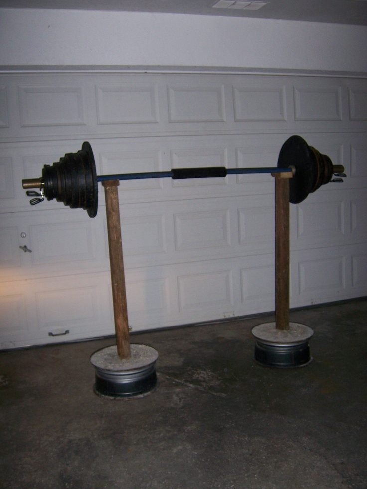 Homemade squat rack holding 370 good to go our gym for A squat rack
