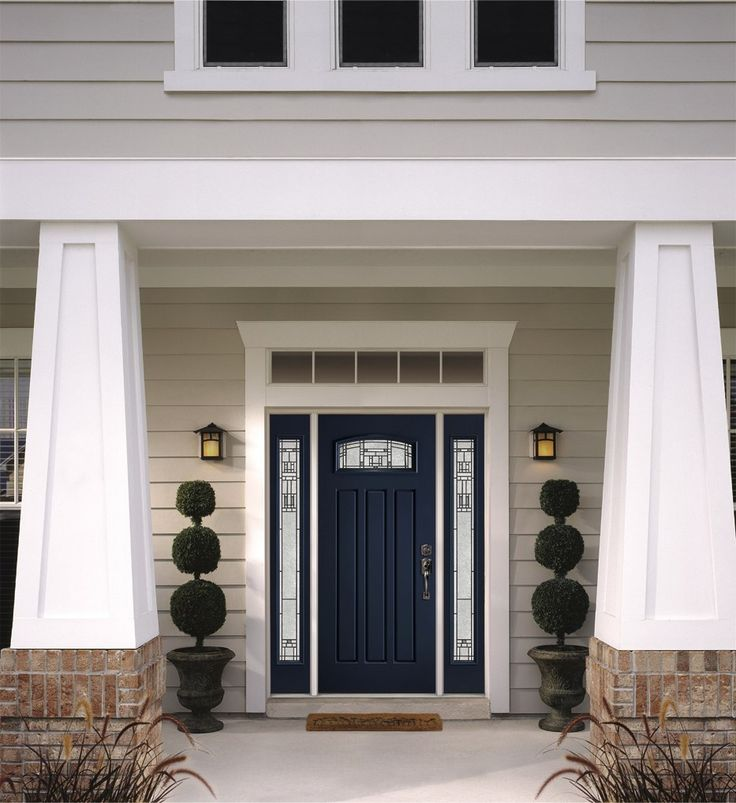 Your home's front entry is the focal point of its curb appeal, and the first impression your home makes on family, friends and other visitors while you are living there.  Make a statement by giving your front door a blast of color.  Belleville® Door from All Weather Windows | McMunn and Yates Building Supplies