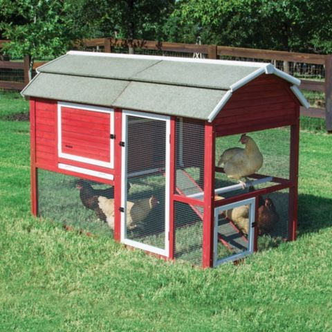 Precision pet products tsc old red barn ii coop carb for Red chicken coop