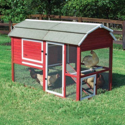 red barn chicken coop 2