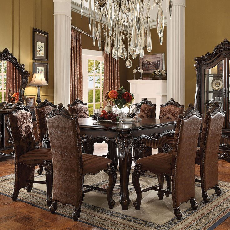 Acme Furniture Versailles 9 Piece Square Counter Height Dining Table Set - ACM961