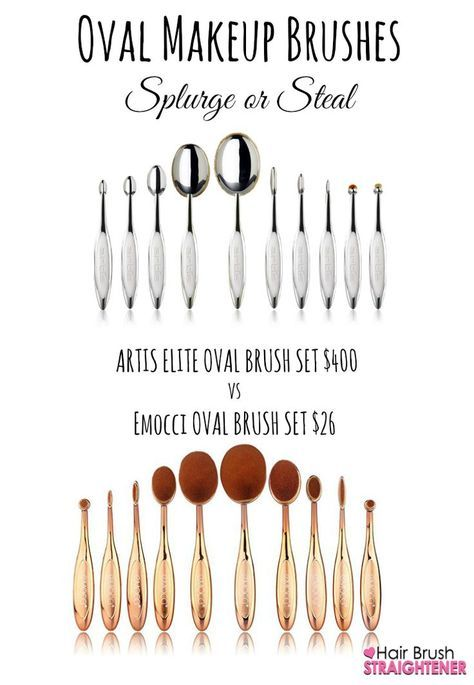 Cheap oval makeup brush set and Artis Dupe!