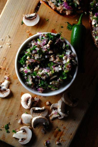 Salsa de Hongos y Jalapenos (Mushroom, Jalapeno and Cilantro Salsa via Sweet Life
