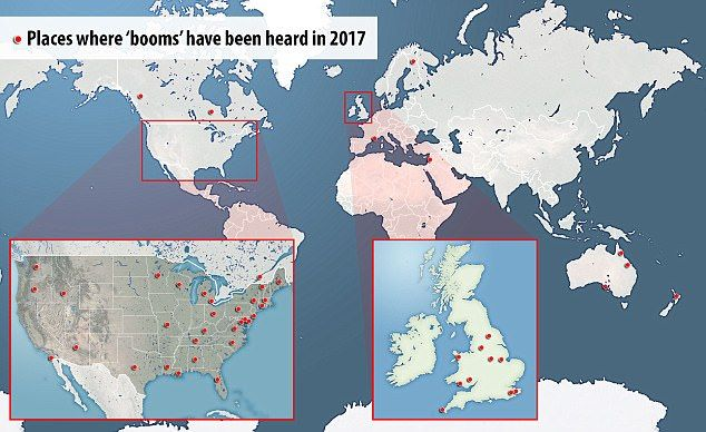 11/21/2017 - What is causing the mysterious 'booms' heard in 64 locations around the world this year?