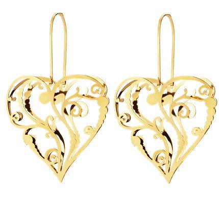 JOHANNE set, litet prydnadshjärta av guldpläterad - 2 st för 329 kr från Georg Jensen. Tips: Dekorera dem med ett tunt, vackert silkespapper i din favoritfärg.