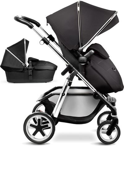 Silver Cross Pioneer Pram and Pushchair in Black