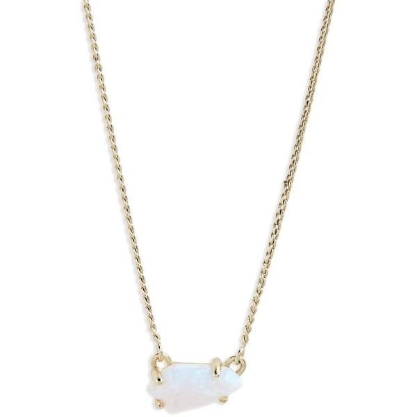 Women's Kendra Scott Jayde Pendant Necklace ($70) ❤ liked on Polyvore featuring jewelry, necklaces, opal jewelry, kendra scott jewelry, kendra scott necklace, pendant necklaces and opal jewellery