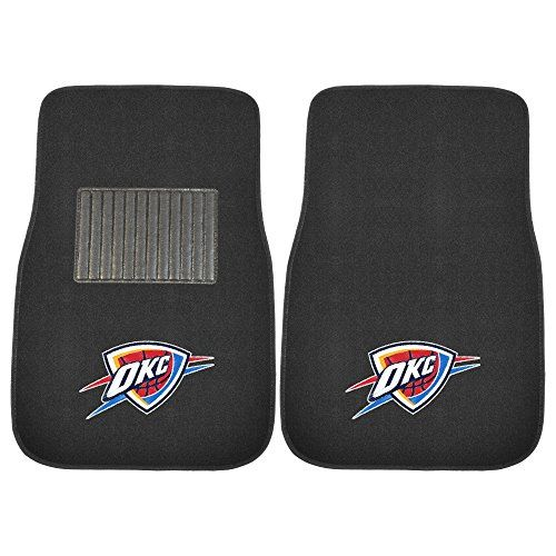 FANMATS 17612 NBA Oklahoma City Thunder 2Piece Embroidered Car Mat -- For more information, visit image link.Note:It is affiliate link to Amazon.