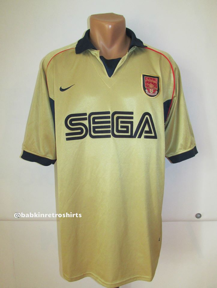 Arsenal 2001 2002 away football shirt replica by Nike England UK London  Gunners soccer Ars AFC Sega vintage  arsenal  gunners  sega  vintage   football ... 1ab439f1e