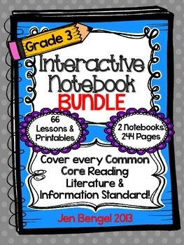 Cover ALL grade 3 Reading Informational and Reading Literature Common Core State Standards with this bundle!