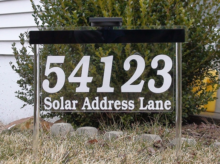 Sunnyleds Prestige Solar Address Sign