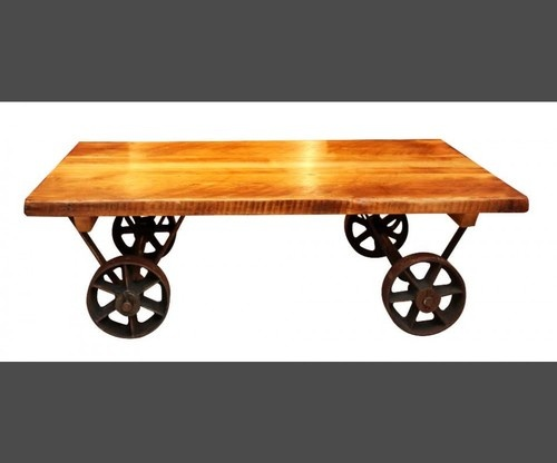 Wood Wood, Industrial Chic, Cast Iron, Coffee Tables, Wheels, For The Home,  Irons, Asian Furniture, Architectural Salvage