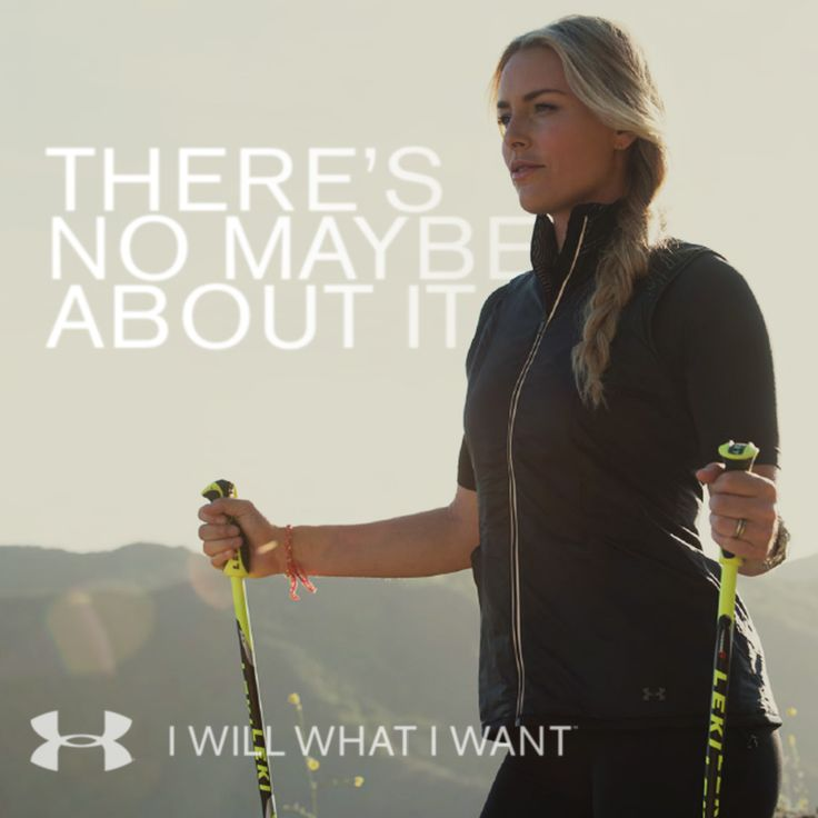 Lindsey Vonn lets nothing hold her back. Neither should you. Shop Lindsey's look at http://www.underarmour.com/shop/us/en/lindsey-vonn?cid=SM|Pinterest|Womens|brand-o|IWWIW|lindseylook|91914. #IWILLWHATIWANT