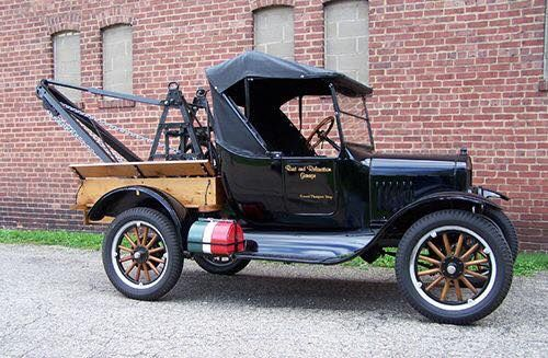 A beautiful 1925 Ford Model T Tow Truck.