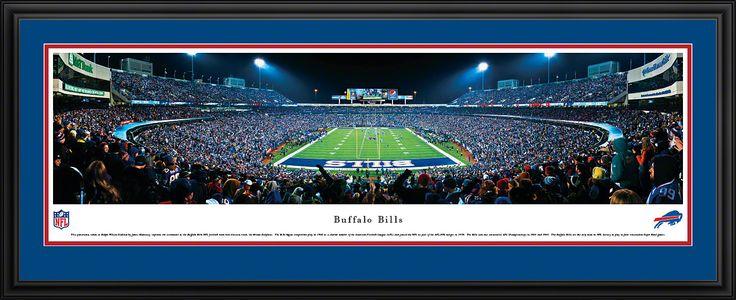 Buffalo Bills Panoramic - Ralph Wilson Stadium Picture Framed- End Zone