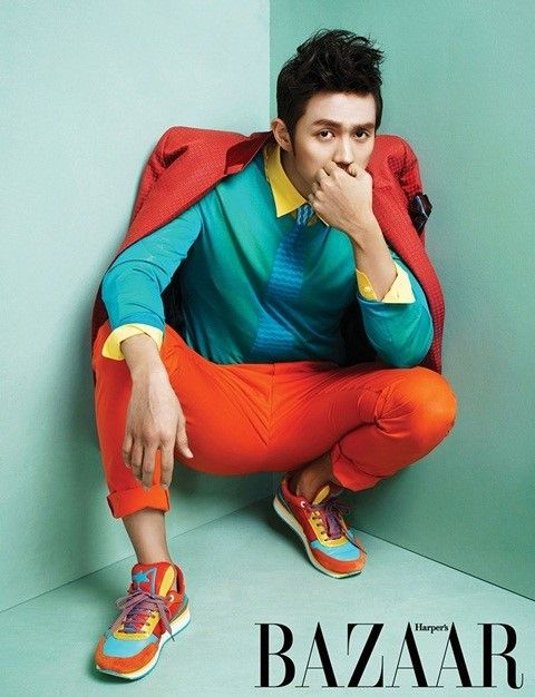 This man can rock brights! 2AM's Seulong for Harper's Bazaar Magazine March Issue '13