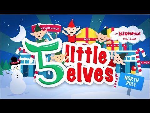Five Little Elves Jumping on the Sleigh Song   Christmas Songs for Kids   5 Little Elves - YouTube