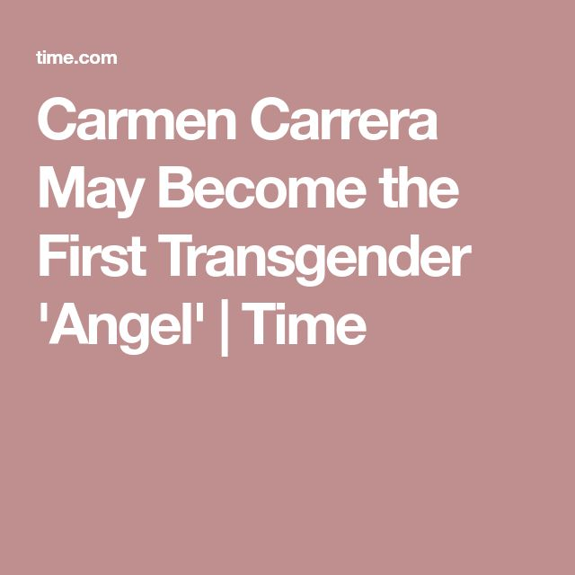 Carmen Carrera May Become the First Transgender 'Angel' | Time