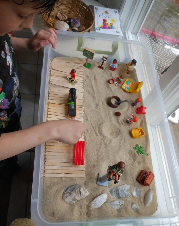 Sand and Sea Sensory Bins