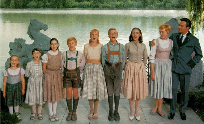 Floral lederhosen worn by cast members who played the Von Trapp children also went under the hammer.