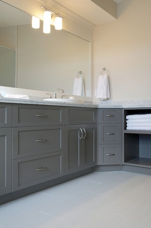 bathroom grey vanity