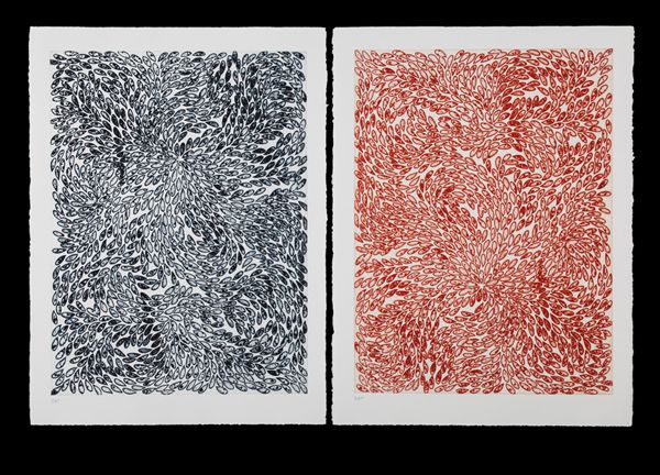 Mute 27, 2013 [etching on hahnemühle paper, sugar lift ground, 33 1/2 × 49 in  85.1 × 124.5 cm] https://artsy.net/artwork/francisca-sutil-mute-27