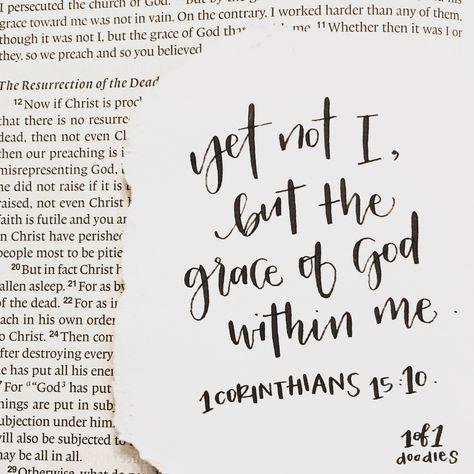 amour. - 1 Corinthians 15:10