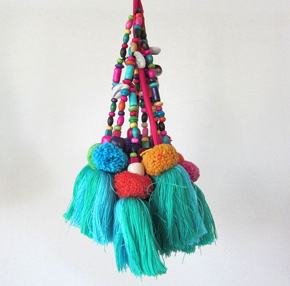 Large Tassels Home Decor: Tassel Swag Tassel Decoration Tassel Pompom Purse Charm