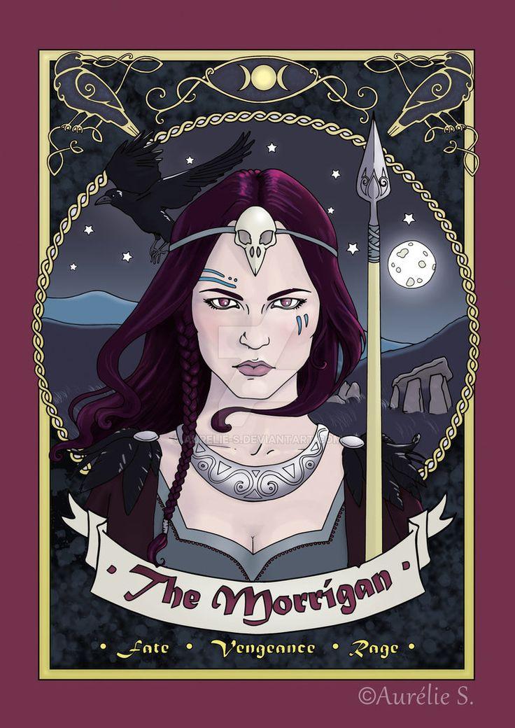 The Morrigan - Coloured page by Aurelie-S.deviantart.com on @DeviantArt