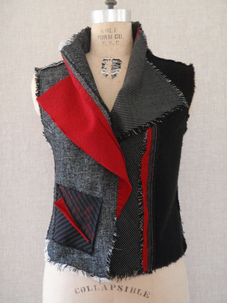 For the past couple of years I�ve been playing with different versions of vests made with Marcy�s Vogue 8430 jacket pattern. Description from katherinetilton.com. I searched for this on bing.com/images