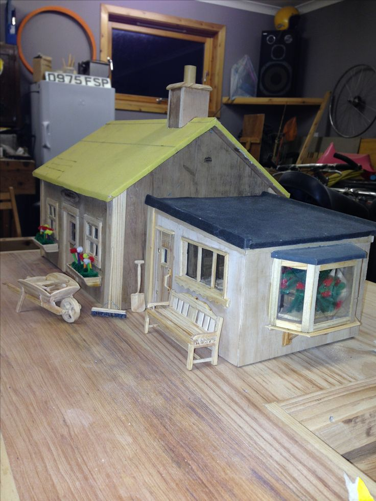 Wooden Model of house (1:12ish)