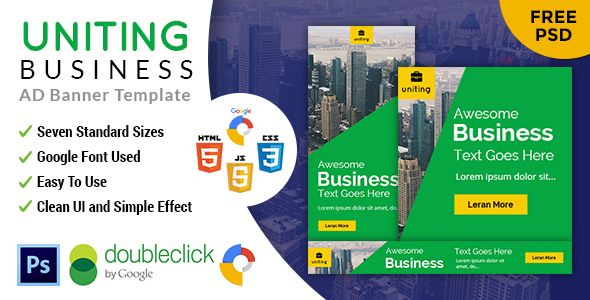 Uniting | Business HTML 5 Animated Google Banner - CodeCanyon Item for Sale