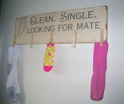 laundry sock sign
