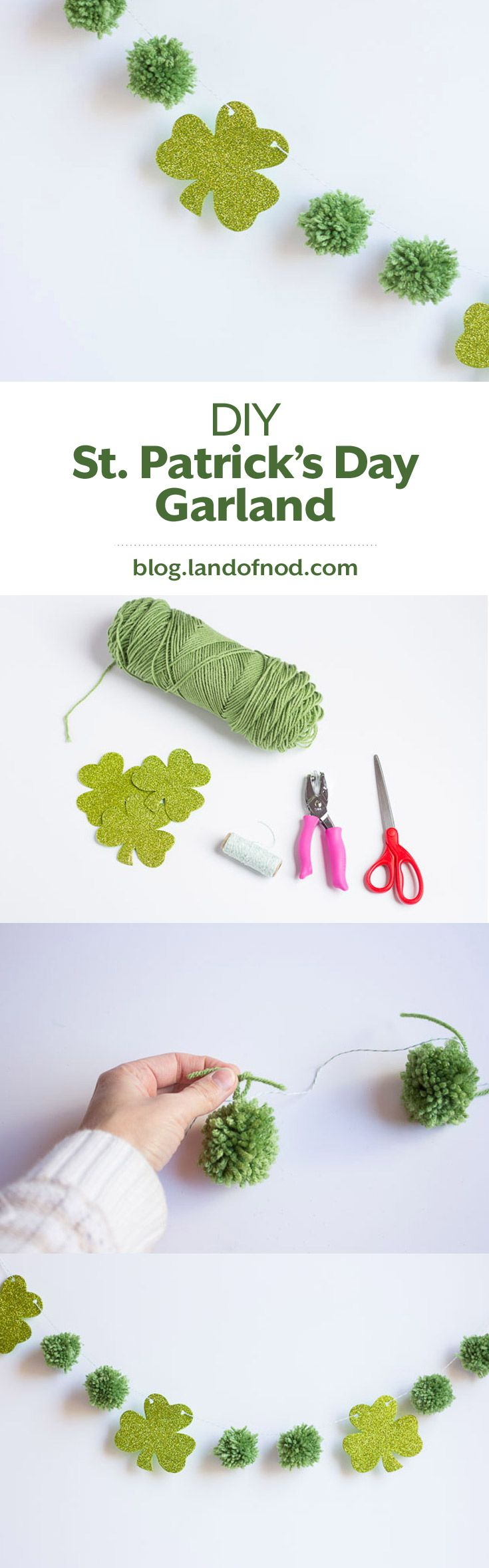 With a few items and just a little bit of time you can easily add some St. Patrick's Day decor to your home with this St. Patrick's Day Garland DIY.