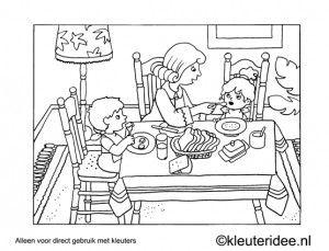 Kleurplaat Nationaal Schoolontbijt 150 Best Kleurplaten Kleuters Coloringpages Preschool