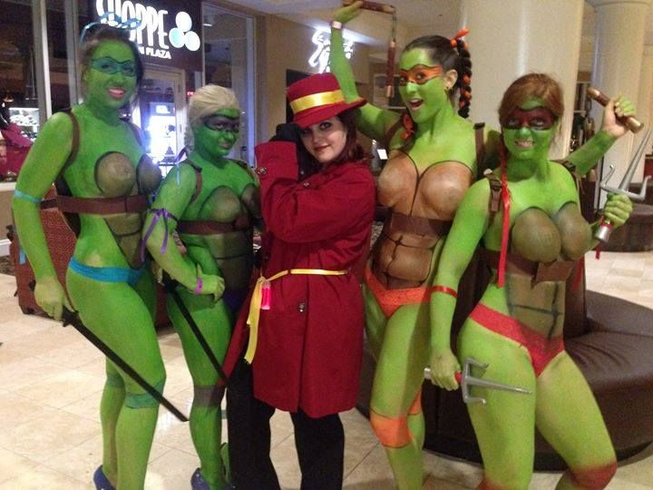 Exact answer Teenage mutant ninja turtles as nude girls commit