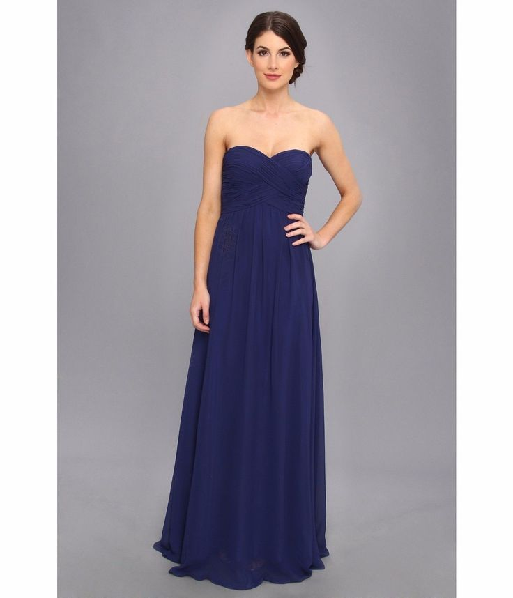 98.01$  Buy here - http://vilco.justgood.pw/vig/item.php?t=a23own350889 - Faviana Strapless Sweetheart Chiffon Dress 7338 Navy Women's Gown Prom Bridal 12