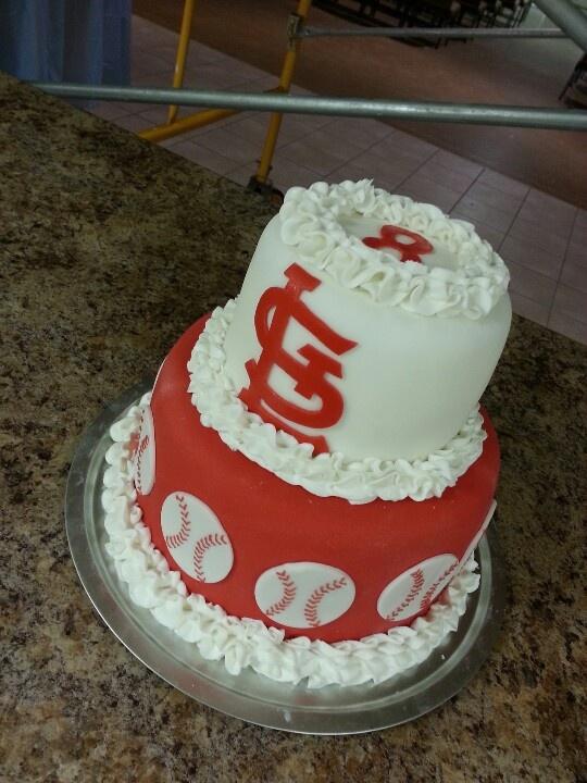 Simple Cardinals Baseball Cake I Made My Cakes