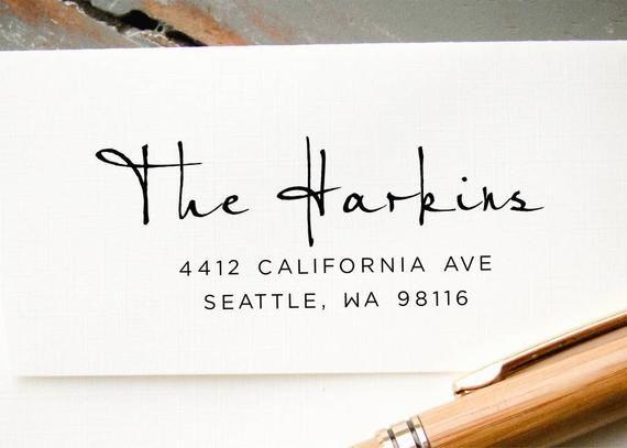 Self Inking Address Stamp Custom Rubber Stamp Personalized Address