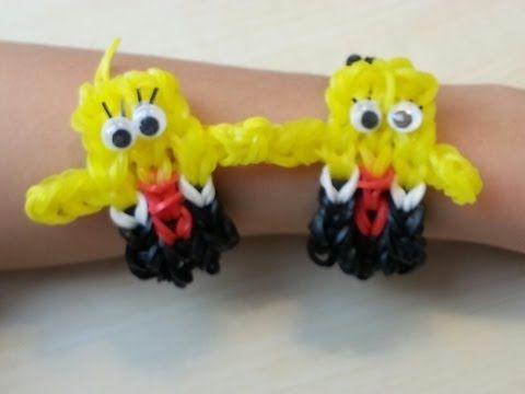 This tutorial shows you how to make a Rainbow Loom Spongebob Squarepants Bracelet