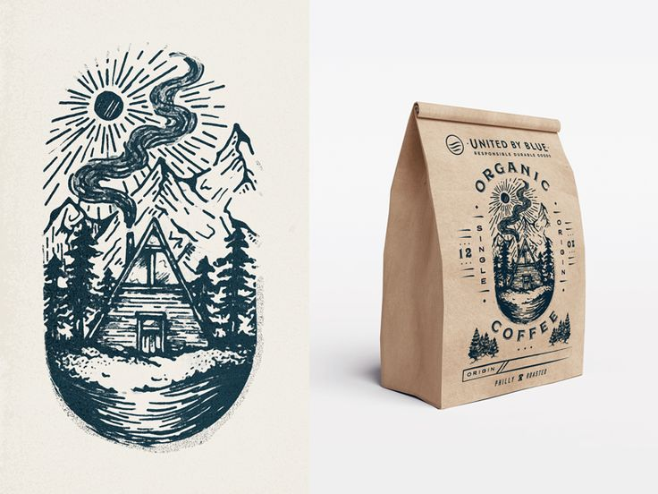 Coffee Bag Redesign by Lindsay Muir #Design Popular #Dribbble #shots