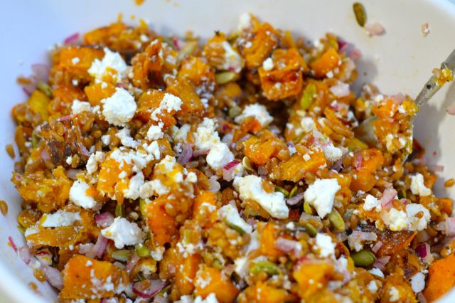Emily's Recipe for Butternut Squash Fall Salad with Farro and Pepitas ...