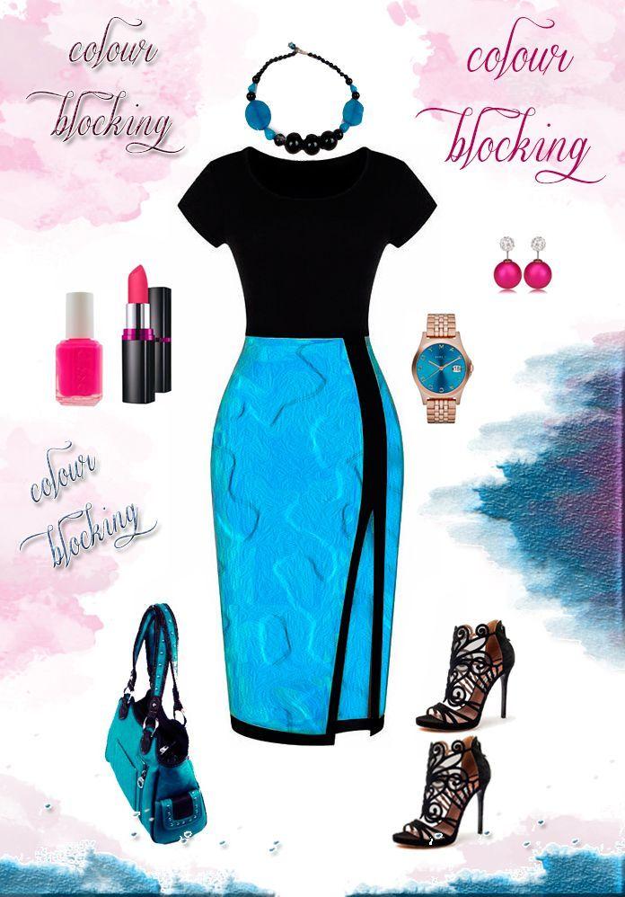 Colour Blocking, Blauwe Jade en Zwarte Onyx Edelsteen Ketting via Birdie Accessoires
