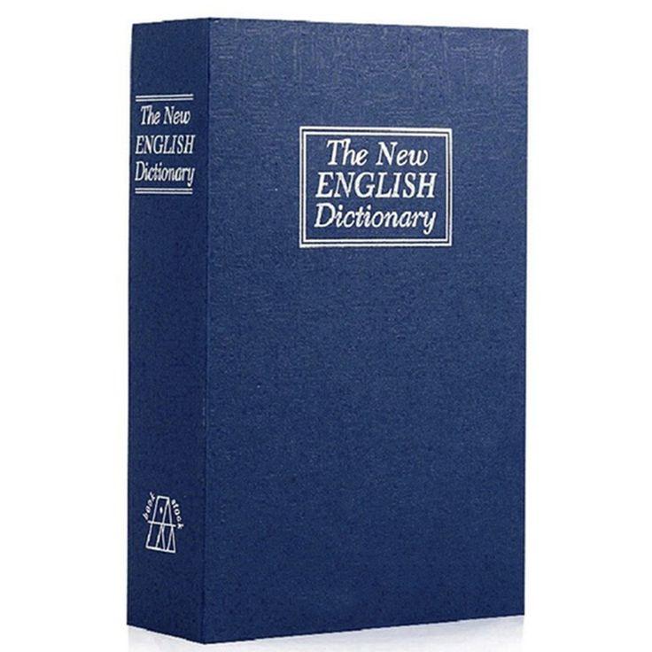 1PCS Dictionary Book Safe Diversion Secret Hidden Security Stash Book safe with key lock