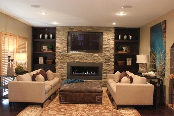 fireplace & TV   Building an Add-On in 2019   New living