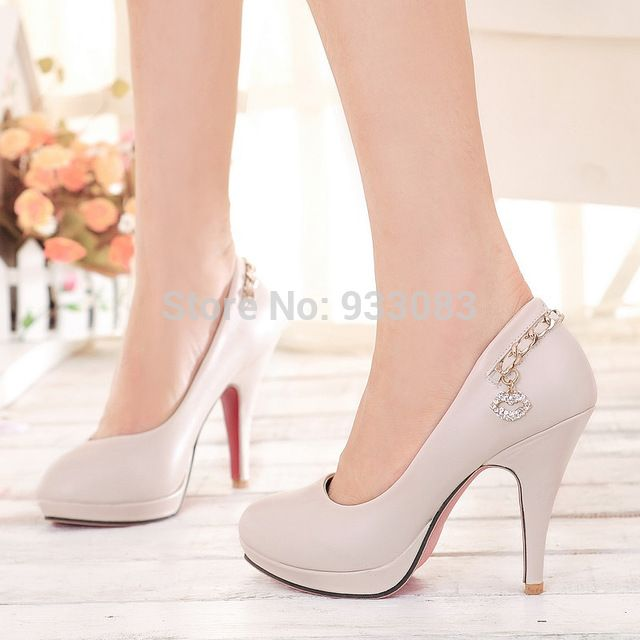 2015 nova moda feminina bombas OL saltos altos elegantes de escritório sapatos de strass fundo vermelho mais big eua tamanho 4-10