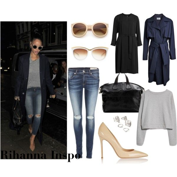 Rihanna inspo by louisesandstroms on Polyvore featuring MANGO, Acne Studios, rag & bone, Gianvito Rossi, Givenchy, Forever 21, Alexander McQueen and J Brand