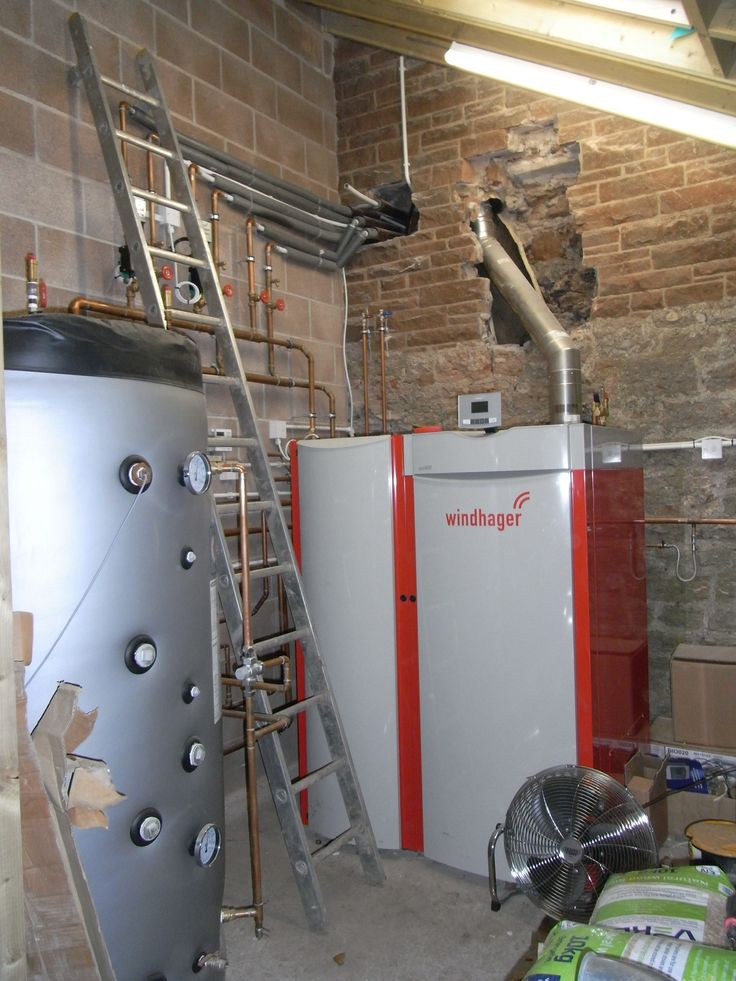 April 5th Biomass boiler at CAfS Green Open Homes - issues of updating insulation, heating & 21st century facilities in an 1856 property.Installation of a 45kW Windhager biomass automatic pellet feed heating system by Greenfields of Penrith.